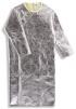Zástera zlievačská pokovovaná tepelne odolná PREOX HEAT s dlhými rukávmi otvorená chrbát s retiazkou 1300 mm strieborná