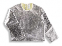 Ochranná zlievačská vesta KF3 / Z s rukávmi pokovaná tepluodolné skrátená chrbát dĺžka 600 mm