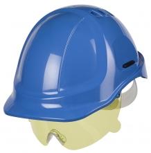 Ochranný očný priezor PROTECTOR s nosným mostíkom nezahmlievajúci sa žltý