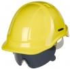 Ochranný očný priezor PROTECTOR s nosným mostíkom nezahmlievajúci sa dymový tónovaný