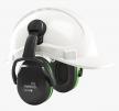 Mušľové chrániče Hellberg SECURE 1C na prilbu SNR 25 výškovo nastaviteľné čierno/zelené