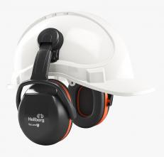 Mušľové chrániče sluchu Hellberg SECURE 3C na prilbu SNR 31 výškovo nastaviteľné čierno/oranžové