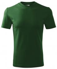 Tričko Malfini Heavy 200 bavlnené bezšvový strih trupu guľatý priekrčník tmavozelené