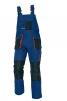Montérkové nohavice CERVA EMERTON s trakmi PES/BA zosilnené kolená množstvo vreciek tmavo modré/stredne modré