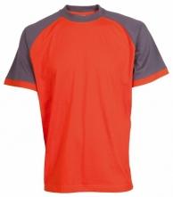 Tričko CXS OLIVER ORION bavlna 180 g krátky rukáv okrúhly priekrčník oranžovo/sivé