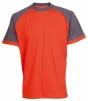 Tričko OLIVER ORION bavlna 180g oranžovo/sivé veľkosť XXXL