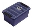Box Sundström skladovací na masky alebo polomasky modrý