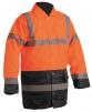Bunda SEFTON zateplená reflexná výstražná oranžová/modrá veľkosť XXL