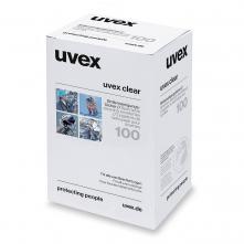 Čistiace obrúsky na okuliare UVEX vlhčené bez silikónu box 100 ks biele