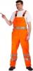 Nohavice KOROS s náprsenkou výstražné pruhy oranžové veľkosť 54