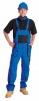 Montérkové nohavice LUX EMIL s náprsenkou modro/čierne