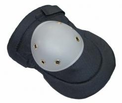Nákolenník tvarovaný textil/plast suchý zips sivy