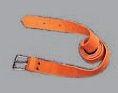 Opasok kožený pracovná kovová spona šírka 2,5 cm dĺžka 120 cm