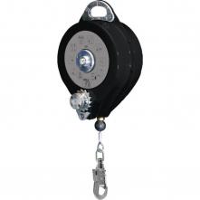 Elevator DELTA PROTECTOR 23M zachytávač pádu a vyzdvihovač nerezové galvanizované lanko 4,8 mm x 20 m čierno/sivý
