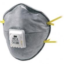 Respirátor 3M 9914 FFP1V špeciálny proti prachu, aerosólom a zápachu výdychový ventil sivý