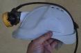 Svietidlo LED Monta na prilbu banskú batéria na opasku čierno/žltá