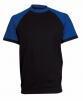 Tričko CXS OLIVER ORION bavlna 180 g krátky rukáv okrúhly priekrčník čierno/modré