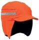 Čiapka so škrupinou PROTECTOR FB3 WINTER zateplená skrátený šilt pretiahnutá do tyla reflexné pruhy vysoko viditeľná oranžová