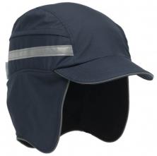 Čiapka so škrupinou PROTECTOR FB3 WINTER zateplená skrátený šilt pretiahnutá do tyla tmavo modrá