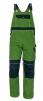Montérkové nohavice CERVA STANMORE náprsenkové stredno zelené/čierné veľkosť 54