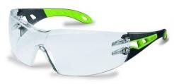 Okuliare UVEX PHEOS čierno/zelené stranice nezahmlievajúci sa nepoškriabateľný číry priezor