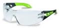Okuliare UVEX PHEOS Supravision Excellence čierno/zelený rám veľkoplošný zorník nezahmlievajúce nepoškrabateľné číre