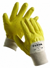 Rukavice CERVA TWITE protirezné latex máčané zdrsnené žlté