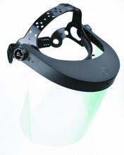 Štít MAXSHIELD VISION polykarbonátový hlavový držiak vrátane polykarbonátového priezoru číry