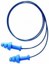 Tlmiace zátky HOWARD Leight SmartFit DT mäkký plast detekčný cvoček jednotlivo balené v sáčku spojené vláknom modré