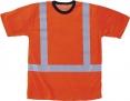 Tričko WALKER krátky rukáv funkčný úplet reflexné pruhy vysoko viditeľné oranžové veľkosť L
