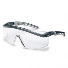 Okuliare UVEX ASTROSPEC 2.0 Supravision Plus zorník odolný proti poškriabaniu čierno/sivý rám číre