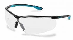 Okuliare UVEX Nový SPORTSTYLE Supravision Extreme čierno/modré rámček nezahmlievajúce nepoškrabateľné číre