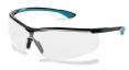 Okuliare UVEX Nový SPORTSTYLE Supravision Extreme čierno/modré rámček nezahmlievajúce sa nepoškriabateľné číre