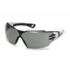 Okuliare UVEX Pheos CX2 bileočierne stranice UV filter proti slnku priezor tónovaný sivý