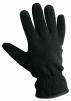 Rukavice Cerva MYNAH päťprsté šité flísové zateplené mäkkou podšívkou čierne