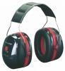 Mušľové chrániče sluchu 3M PELTOR OPTIME III H540A-411-SV s hlavovým temenným oblúkom SNR 35 čierno/červené