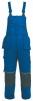 Montérkové nohavice ORION KRYŠTOF s náprsenkou modro/čierne