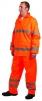 Bunda GORDON PES/PU nepremokavá reflexné pruhy oranžová veľkosť XL