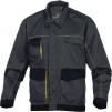 Montérková blúza DELTA D-MACH PES/bavlna košeľový golier bočné otvorené vrecká sivo/žltá