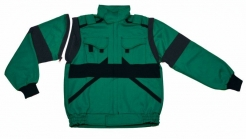 Montérková blúza CXS LUXY EDA s odopínateľnými rukávmi zelenočierna