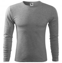Tričko Fit-T LS bavlna 160g dlhý rukáv pánske svetlosivý melír
