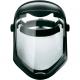 Ochranný tvárový štít Honeywell Bionic vrátane hlavového držiaku polykarbonátový HC/AF nepoškrabateľný nezahmlievajúcí sa číry