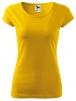 Tričko Pure 150 bavlnené dámske krátky rukáv okrúhly priekrčník vydriečené žlté