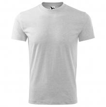 Tričko Heavy 200 bavlna kvalitný bavlnený materiál okrúhly priekrčník melír svetlosivý