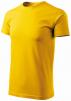 Tričko MALFINI Basic 160 bavlnené bezšvový strih trupu okrúhly priekrčník silikónová úprava žlte