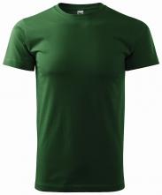 Tričko Basic 160 bavlnené okrúhly výstrih silikónová úprava tmavozelené
