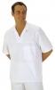 Košeľa pekárska krátky rukáv s rozhalenkou cez hlavu biela veľkosť XL