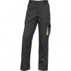 Montérkové nohavice DELTA PLUS D-MACH do pása PES/bavlna zosilnené kolená šikmé vrecká sivo/žlté