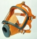 Celotvárová maska SCOTT SARI silikónová lícnica žltá