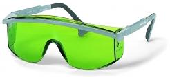 Okuliare UVEX ASTROSPEC čierny rámček priezor odolný proti poškriabaniu zelené